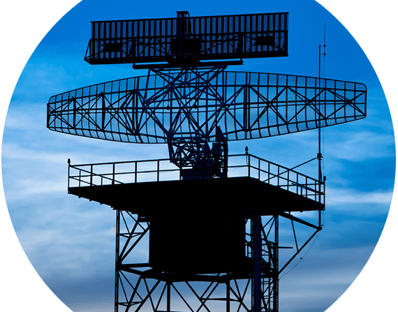 microwave radar dish